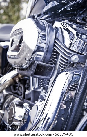 motorcycle engine airbox - stock photo