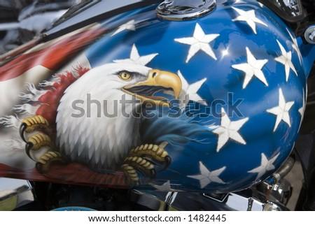Motorcycle Gas Tank - stock photo