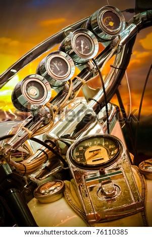 Motorcycle Gauge - stock photo