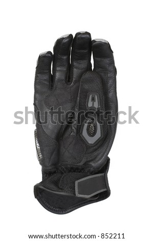 Motorcycle glove with carbon fiber knuckles.