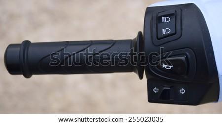 Motorcycle handle - stock photo