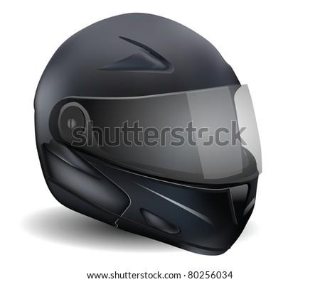Motorcycle Helmet Isolated On White