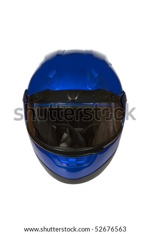Motorcycle Helmet isolated on white with clipping path. Front view