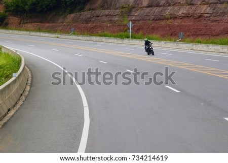 Motorcycle on road