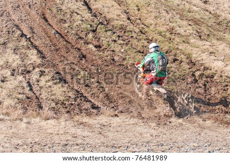 motorcycle ride into the mud