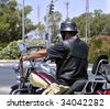 Motorcycle Rider - stock photo