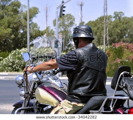 Motorcycle Rider - stock photo