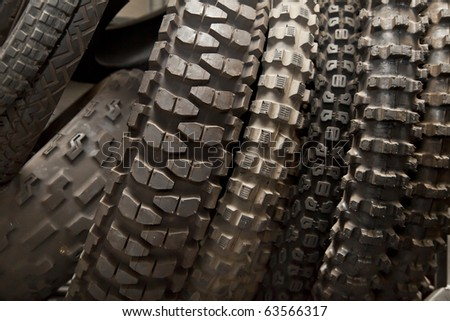 Motorcycle tires - stock photo