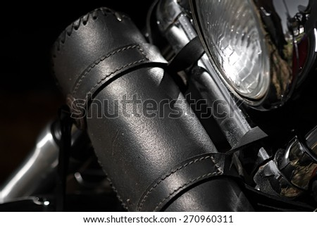 motorcycle tool bag close up - stock photo