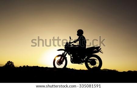 motorcycle touring - stock photo