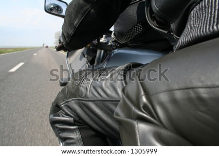 motorcycle trip - stock photo