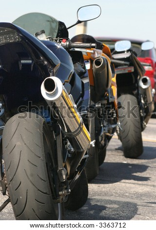 Motorcycles - stock photo