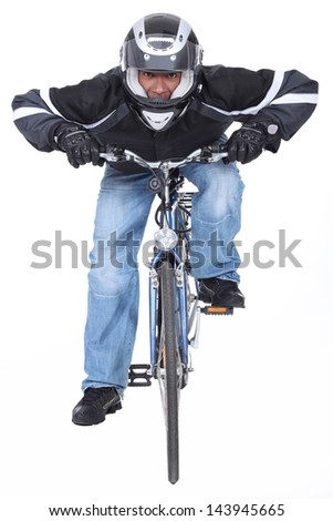 Motorcyclist - stock photo