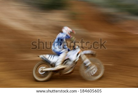 Motorcyclist in a contest - stock photo