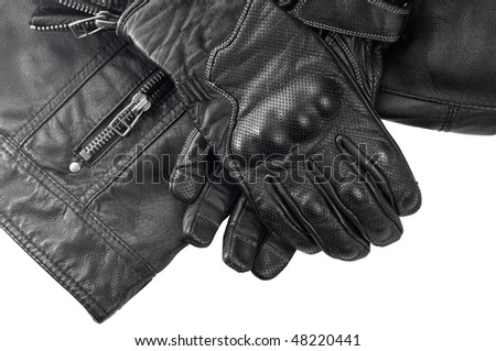 Motorcyclist Protective Gear - stock photo
