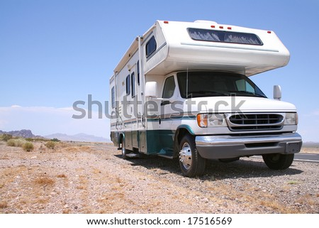 Motorhome RV in American West - stock photo