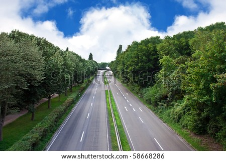 Motorway in the city. - stock photo
