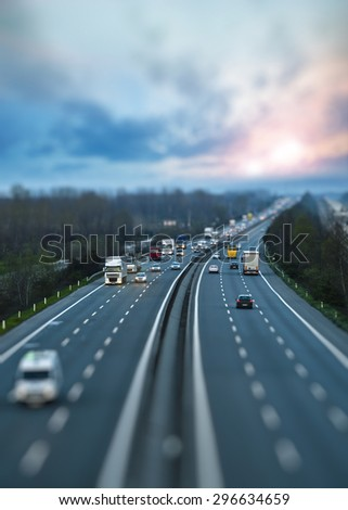 Motorway Traffic - stock photo