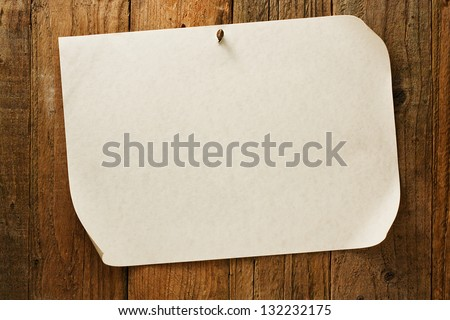 mottled biege Parchment paper notice sign similar to the grungy cowboy wanted posters often used to symbolise the wild west of america - stock photo
