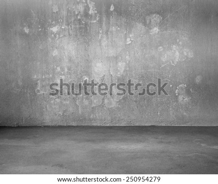Mottled concrete room for background texture - stock photo