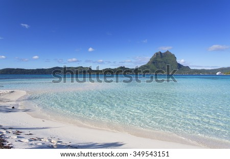 Motu Tapu, Bora Bora, Society Islands, French Polynesia