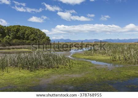 Motueka landscape near Abel Tasman National Park, South Island, New Zealand - stock photo
