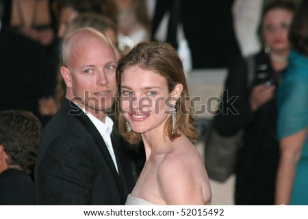 MOUGINS , FRANCE - MAY 22: Model Natalia Vodianova and husband Justin Portman arrive at amfAR's Cinema Against AIDS 2008  during the 61 Cannes  Festival on May 22, 2008 in Mougins, France.