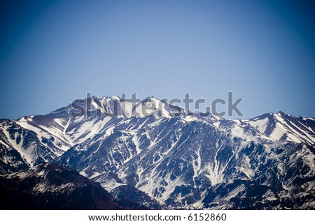 Mount Aconcagua in Mendoza, Argentina (highest pick in America continent)