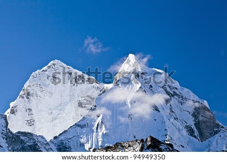 Mount Ama Dablam in Himalaya Mountains, Nepal