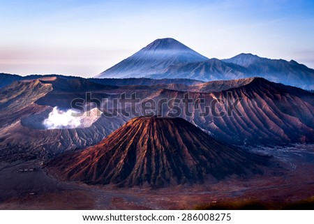 Mount Bromo, Java, Indonesia - stock photo