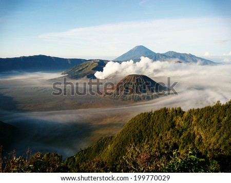 Mount Bromo Volcano, Indonesia - stock photo