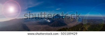 Mount Bromo volcano, the magnificent view of Mt. Bromo located in Bromo Tengger Semeru National Park, East Java, Indonesia.