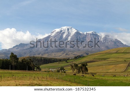 Mount Chimborazo - stock photo