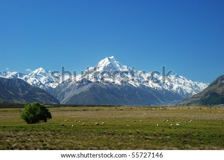 Mount Cook Great Scenic - stock photo