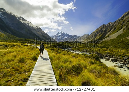 Mount cook national park new zealand stock photo royalty free mount cook national park new zealand march 20 2017 hooker valley track publicscrutiny Image collections