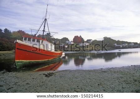 New england fishing village stock images royalty free for Desert island fishing