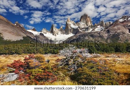 Mount Fitz Roy, Los Glaciares National Park, Patagonia, Argentina - stock photo