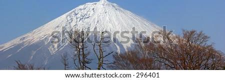 Mount Fuji in Spring - stock photo