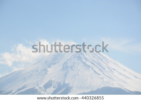 Mount Fuji with snow-covered, Japan - stock photo