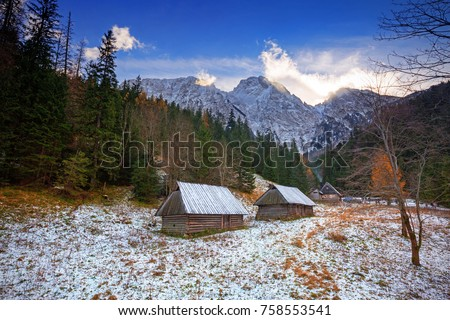 Mount Giewont in Tatra mountains, Poland
