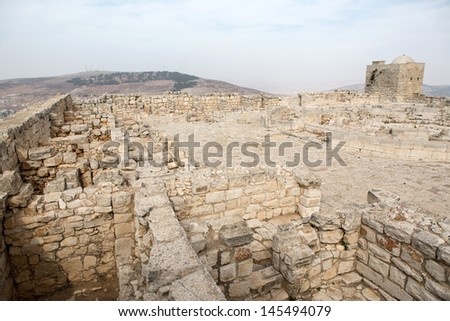 Mount Griezim ruins, holy place for the Samaritan community, Israel - stock photo