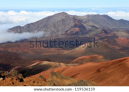 Mount Haleakala Crater on Maui, Hawaii