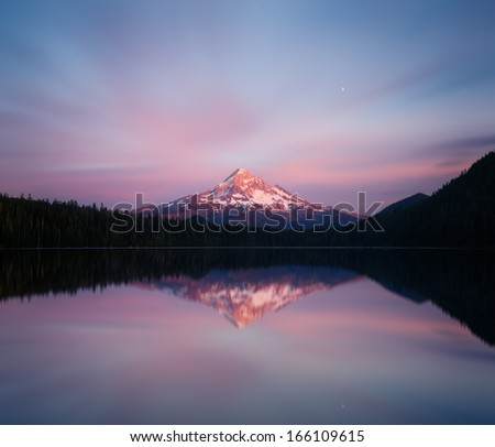 Mount Hood view from Lost lake - stock photo