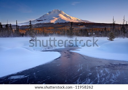 Mount Hood Winter - stock photo
