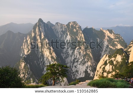 Mount Hua or Hua Shan is located in Shaanxi Province, about 120 kilometres east of the city of Xi'an,it is one of China's Five Great Mountains, and has a long history of religious significance.