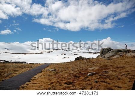 Mount Kosciuszko lookout - stock photo