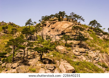 Mount Kumgang (Diamond Mountain) of the Mount Kumgang Tourist Region in North Korea