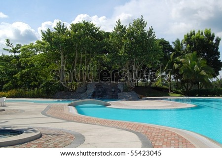 Mount Malarayat golf and country club swimming pool - stock photo