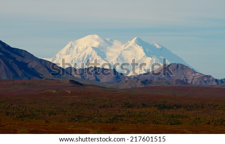 Mount Mc Kinley (Denali) Alaska / USA - stock photo