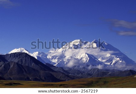 Mount Mckinley the highest mountain in america. - stock photo